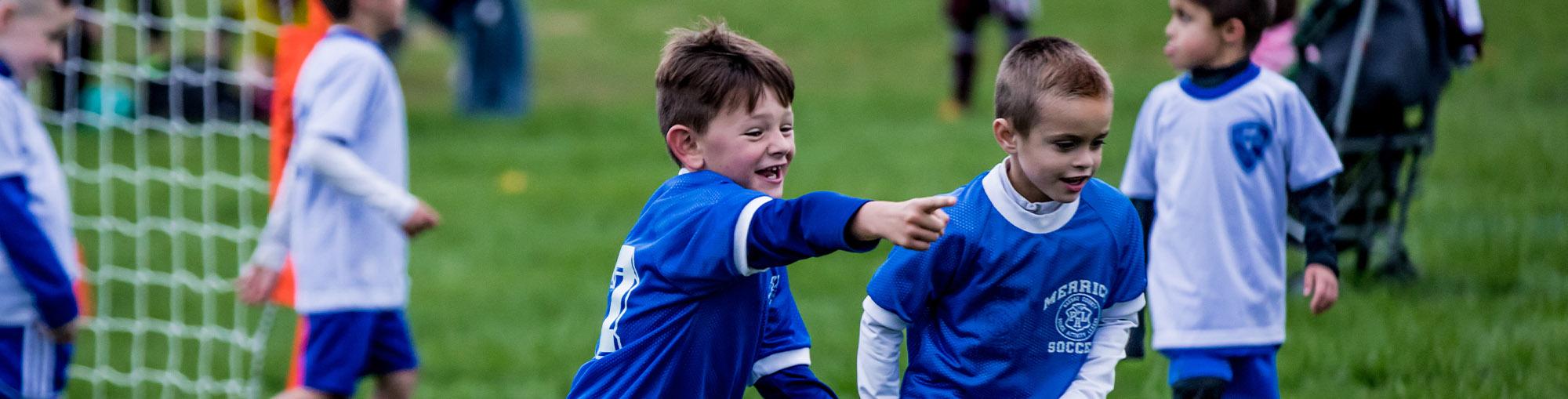 Boys Celebrating Goal
