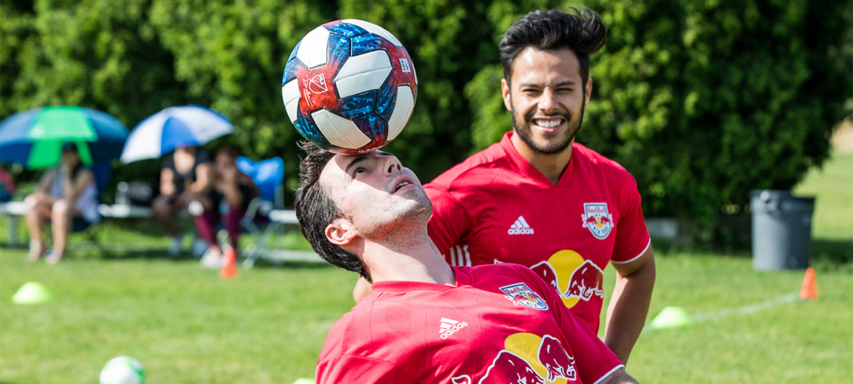 LIJSL Kicked off Soccer at Home initiatives with LIJSL RBNY Freestyle Party